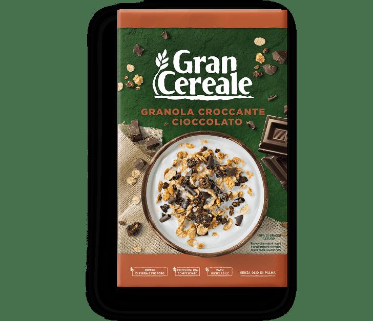 Granola croccante e cioccolato